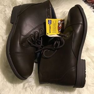 Smart Fit, Boys Brown Boots Size 1 NWT